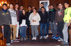 Los estudiantes en el ayuntamiento.