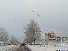 Aspecto de la entrada a Soria esta mañana