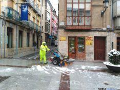 Limpieza de una calle céntrica
