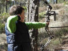 Un joven practicando en Navaleno.