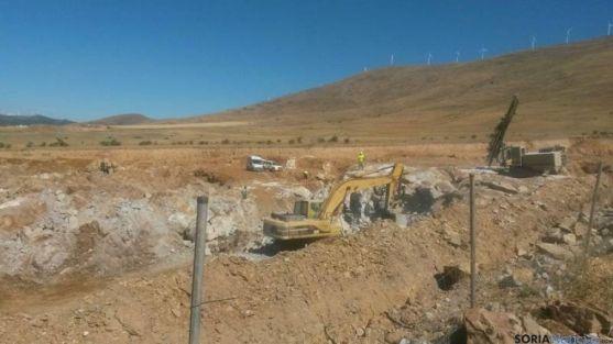 Trabajos autorizados en la mina de Borobia.