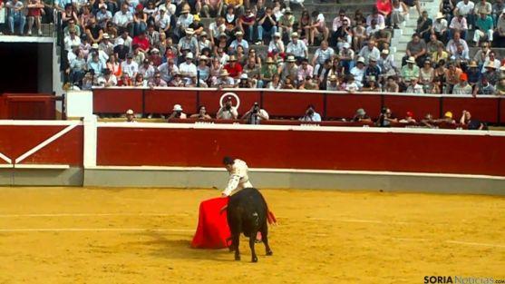 El torero soriano Rubén Sanz, en el coso de San Benito.