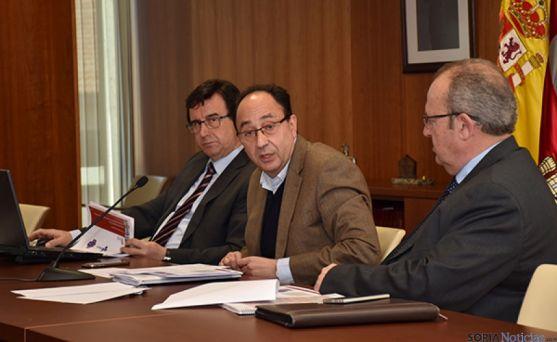 Manuel López, en la rueda de prensa de hoy.