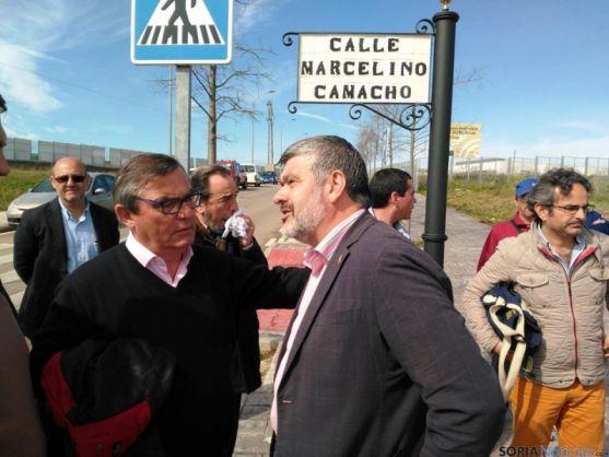 Inauguración de la calle a Marcelino Camacho en Ecija.