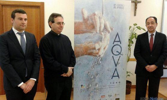 Barros, (izda.), Atienza y López este lunes en la Casa Diocesana. / SN