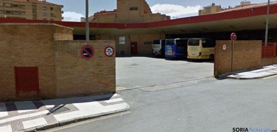 Imagen de la estación de autobuses de Soria. / GM