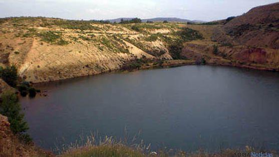 Balsa en la mina Gandalia de Borobia./SN