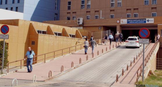 Entrada al hospital de Santa Bárbara en una imagen de archivo./SN