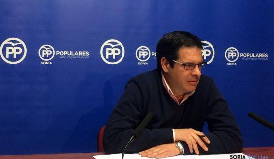 El concejal del PP, Javier Martín este martes.