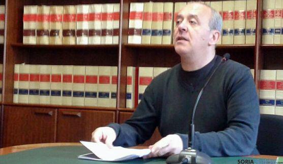 Enrique García, de IU, este miércoles en rueda informativa. / SN