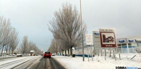La nevada ha cubierto de blanco toda la ciudad. / SN
