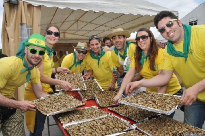 Doce toneladas de caracoles se consumen en tres jornadas en Lérida.