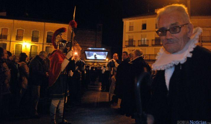 La procesión en la plaza Mayor./SN
