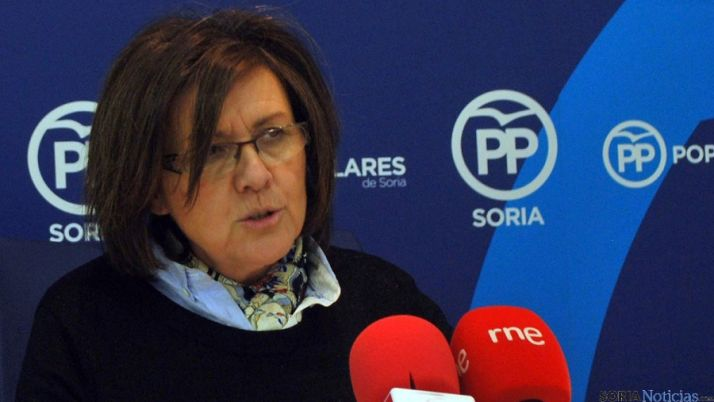 Marimar Angulo en una comparecencia ante los periodistas. / SN