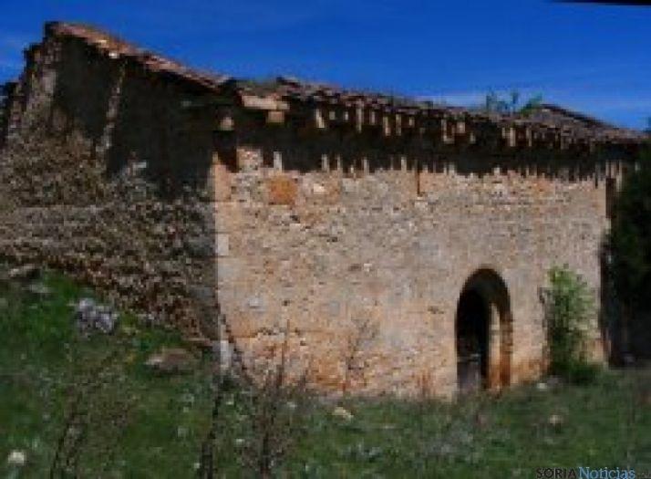 La ermita a restaurar.