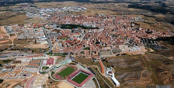 Imagen aérea de la capital de la provincia. / SN