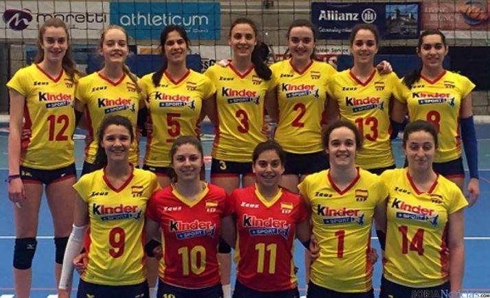 El combinado nacional junior en Suiza.