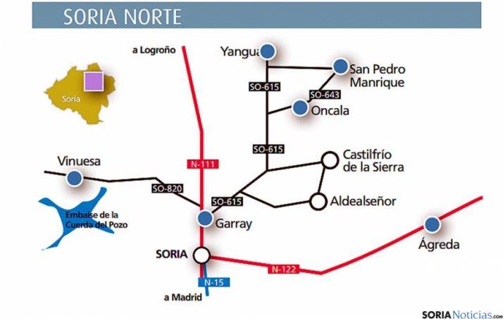 Una de las rutas previstas en el norte soriano. / SN