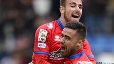 Victoria del Numancia ante el Huesca que le permite alejarse del descenso (3-2)