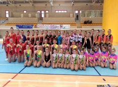 Gimnastas sorianas que participaron en el Regional.