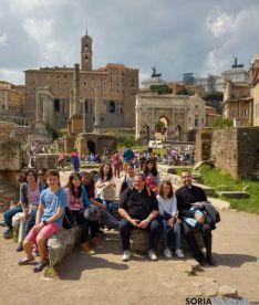 Una de las imágenes de los jóvenes sorianos en Roma. / SN