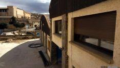 El edificio durante las obras este invierno. / SN