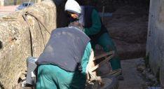 Trabajadores en obras municipales