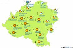 Mapa del tiempo hoy./eltiempo.es