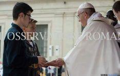 Rubén y Nacho con el Papa./L'Osservatore Romano