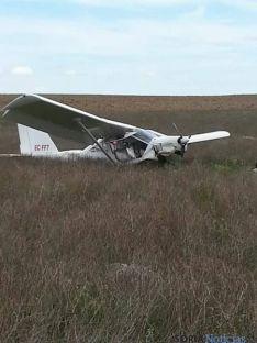 Herido el piloto de un ultraligero en Almaluez