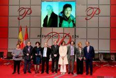 Herrera con los premios Castilla y León que se han entregado hoy