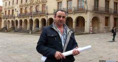Anselmo Plazas Marín, este mediodía tras entrevistarse con el alcalde. / SN