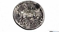 Una de las caras del denario.