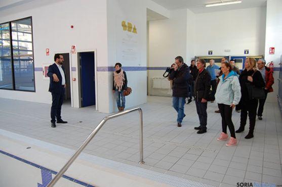 Visita del Consejo de Deportes a las nuevas instalaciones.