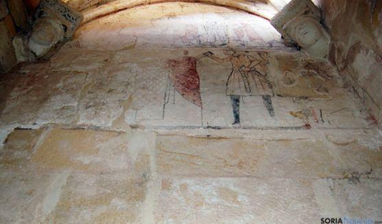 Conjunto pictórico en las ruinas de San Nicolás.