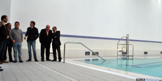 Una de las imágenes de la inauguración oficial de las instalaciones polidportivas. / SN