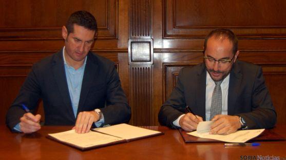 Arturo González (izda.) y Luis Rey./Dip.