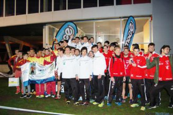Atletas en el campeonato en Burgos.