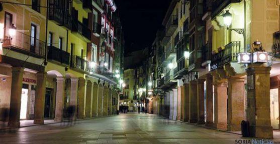 El Collado, en la capital, en una imagen nocturna. / SN