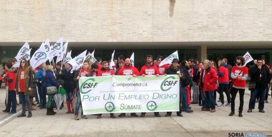 Imagen de la protesta. / CSIF