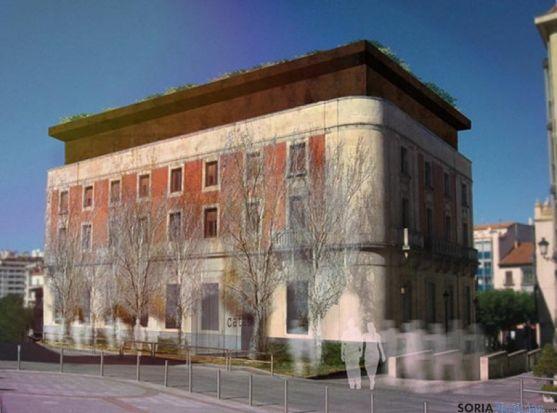 Recreación del edificio Banco de España