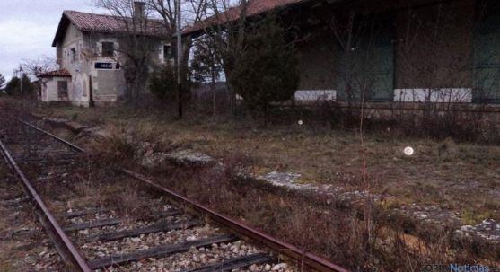 Estación de ferrocarril en desuso en Abejar