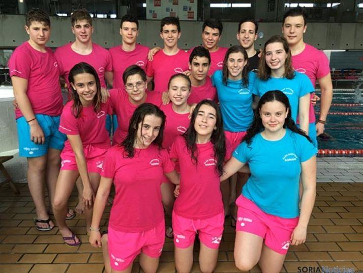 Nadadores sorianos que han competido en Calahorra.
