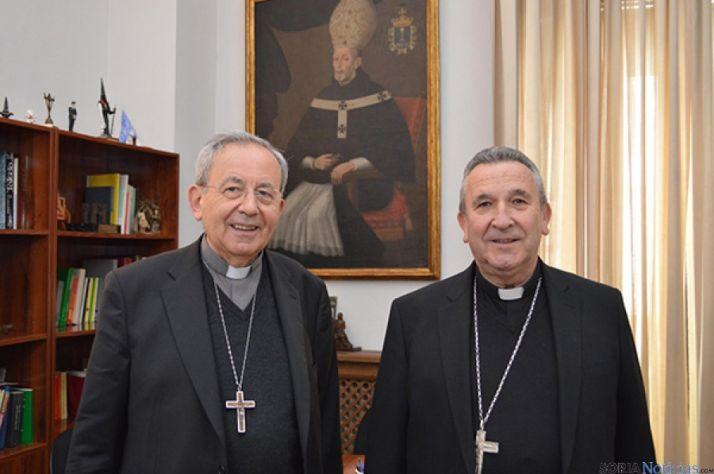 Monseñor Melgar, con el obispo emérito de Ciudad Real.