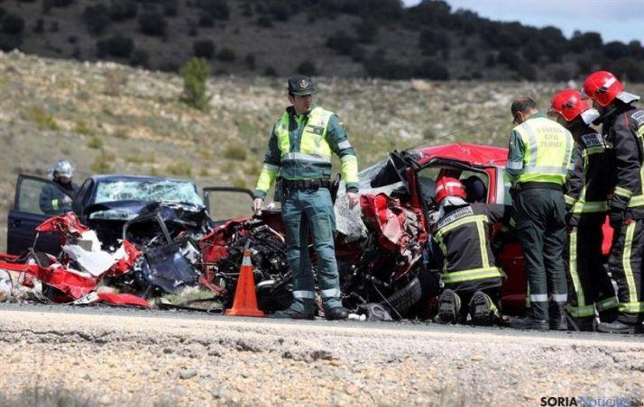Último accidente mortal en la cuesta de La Omeñaca, en la N-122.