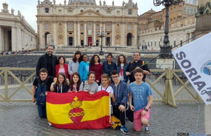 El grupo en Roma. / SN