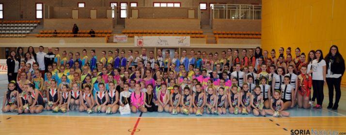 Las gimnastas participantes.