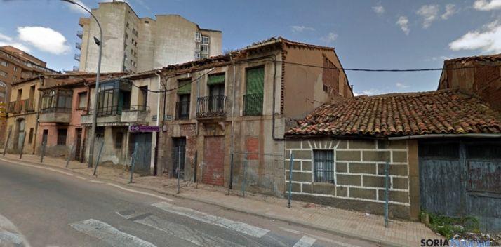 Inmuebles en la calle Hospicio./SN