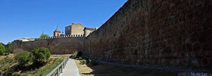 Un tramo de la muralla adnamantina./SN