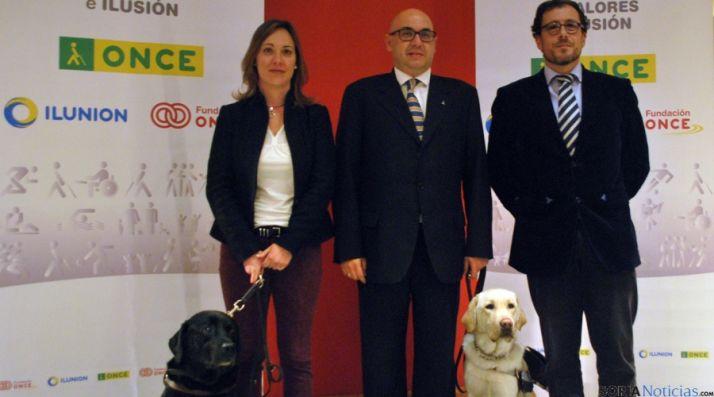 Arancha Casado, Miguel Díez e Ismael Blanco, este martes en Soria. / SN